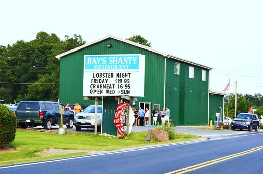 Ray's Shanty Restaurant located on Chincoteague Road just 1.5 miles east of T's corner